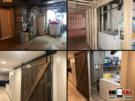 Birmingham Basement Remodel Pictures Before After One Call