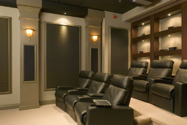 Home Theater Basement Design in Birmingham