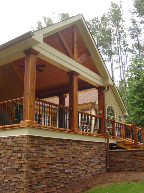 Covered Porch Gallery | Porch Builder | Birmingham, Hoover ... on Covered Back Deck Ideas id=83998